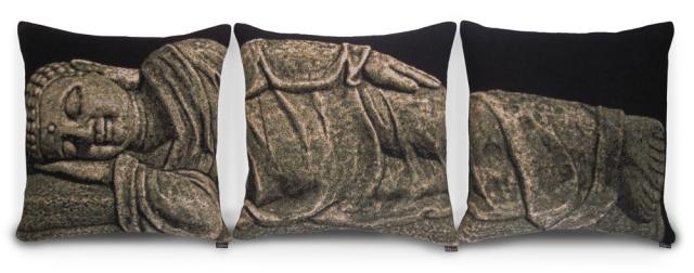 Sleeping Buddha Triptych of Pillows